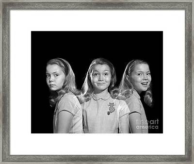 Sad To Happy, Multiple Exposure Image Framed Print by Debrocke/ClassicStock