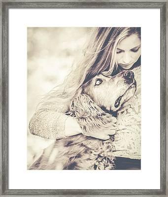 Sad Together Framed Print by Debi Bishop