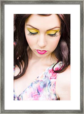 Sad Woman Framed Print by Jorgo Photography - Wall Art Gallery