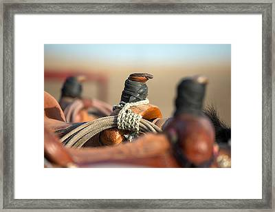 Saddle Horns Framed Print by Todd Klassy