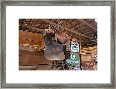 Saddle Storage - Hanging In The Barn Framed Print