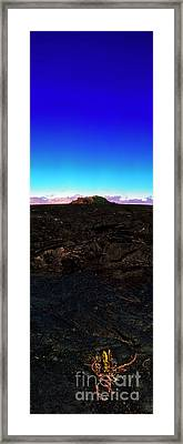 Saddle Road Humuula Lava Field Big Island Hawaii  Framed Print