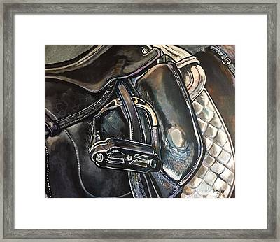 Saddle Study Framed Print