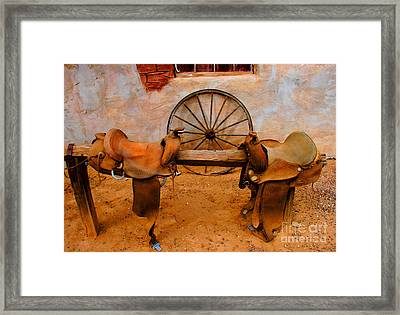Saddle Town Framed Print