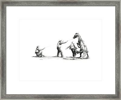 Saddle Up Framed Print by Karen Elkan