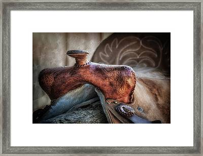 Saddle Up Still Life II Framed Print