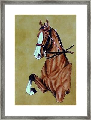 Saddlebred Framed Print by Lilly King