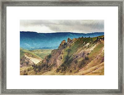 Saddlerock Mountain Framed Print by Jean OKeeffe Macro Abundance Art