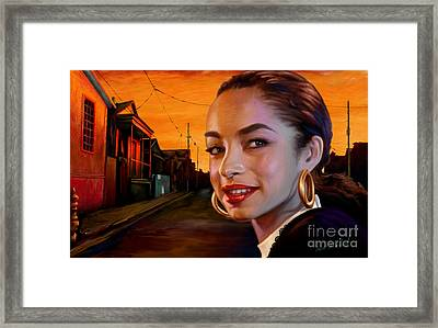 Sade Framed Print by Sam Shacked