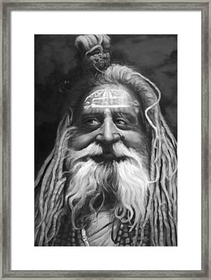 Sadhu  Framed Print by Enzie Shahmiri