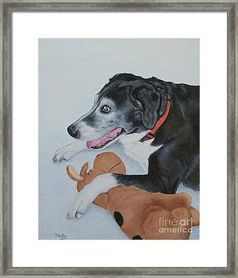 Framed Print featuring the painting Sadie by Mike Ivey