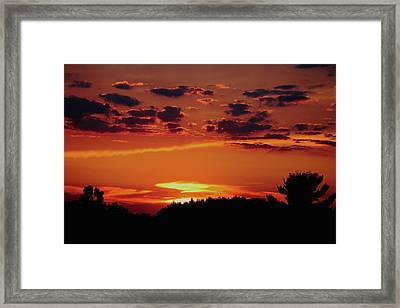 Framed Print featuring the photograph Sadie's Sunset by Bruce Patrick Smith