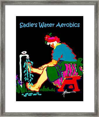 Sadie's Water Aerobics  Framed Print
