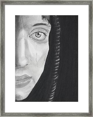 Sadness Framed Print by Cathy Jourdan