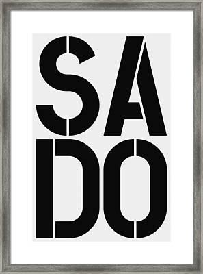 Sado Framed Print by Three Dots