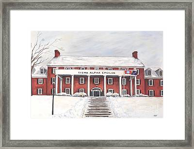 Sae Fraternity House At Uofa Framed Print by Tansill Stough