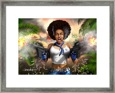 Safari Blue Framed Print