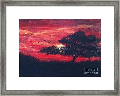 Safari Sunset Framed Print by Jennifer Gonzalez