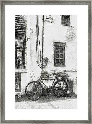 Safari Tours - Sketch Framed Print