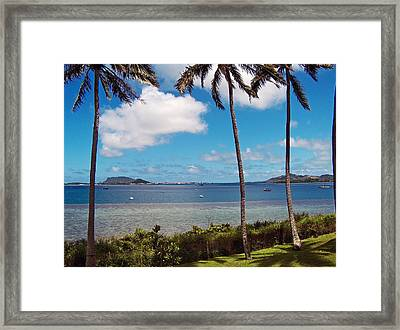 Framed Print featuring the photograph Safe Harbor by Anthony Baatz
