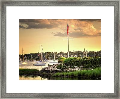 Framed Print featuring the photograph Safe Harbor Bristol Ri by Tom Prendergast