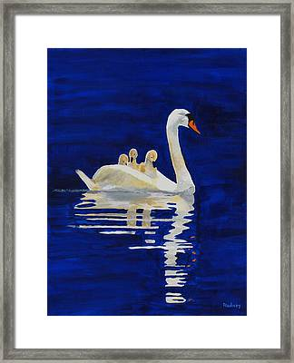 Framed Print featuring the painting Safe Harbor by Rodney Campbell