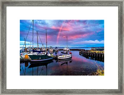 Framed Print featuring the photograph Safe Harbor by TL  Mair