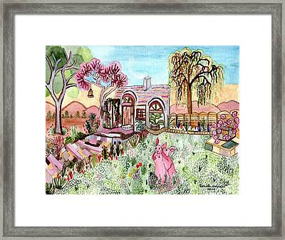 Framed Print featuring the painting Safe In Bunny Home by Connie Valasco