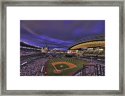 Safeco Field Framed Print by Dan McManus