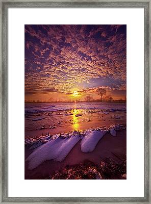 Framed Print featuring the photograph Safely Secluded In A Far Away Land by Phil Koch