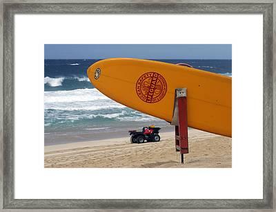 Safety First, Oahu Framed Print