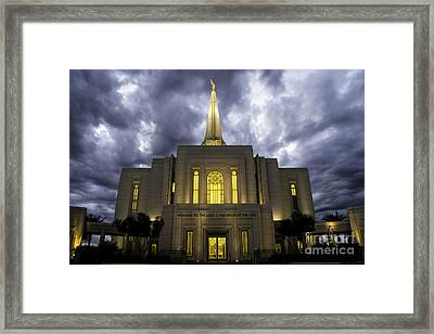 Safety From The Storm Framed Print by Nick  Boren