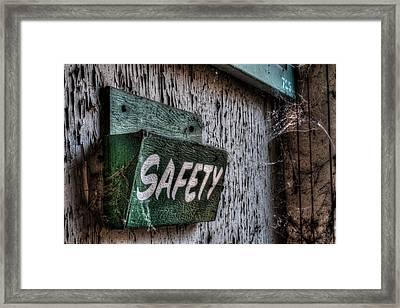 Safety Framed Print