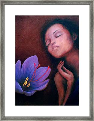 Saffron Framed Print by Patricia  Dees