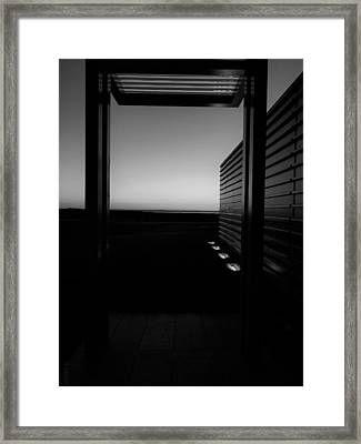 Framed Print featuring the photograph Sag Harbor Sunset 2 In Black And White by Rob Hans
