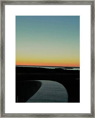 Framed Print featuring the photograph Sag Harbor Sunset 3 In Black And White by Rob Hans
