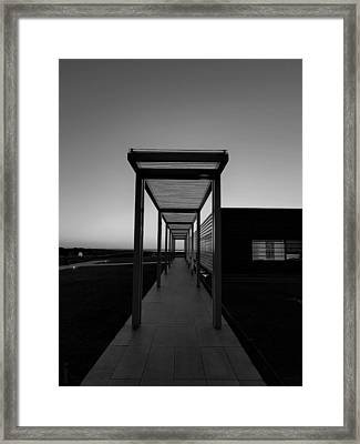 Framed Print featuring the photograph Sag Harbor Sunset In Black And White by Rob Hans