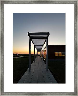 Framed Print featuring the photograph Sag Harbor Sunset by Rob Hans