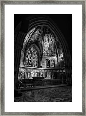 Sage Chapel Altar Framed Print by Stephen Stookey