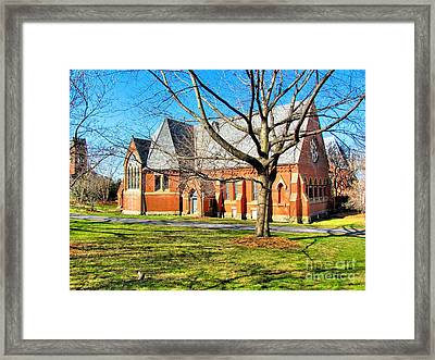 Sage Chapel Cornell University Framed Print by Elizabeth Dow