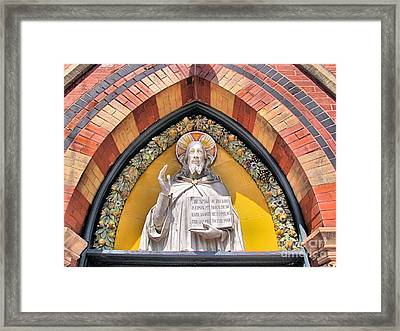 Sage Chapel Front Entrance Framed Print by Elizabeth Dow