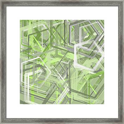 Sage Green Art Framed Print by Lourry Legarde