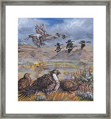 Sage Grouse Watch The Migration Framed Print