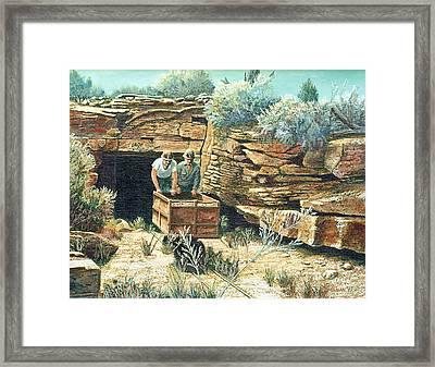 Sage Mine Framed Print by Lee Bowerman