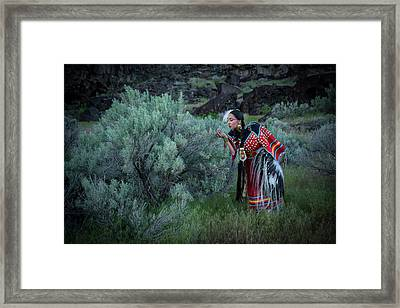 Sage Woman Framed Print by Christian Heeb