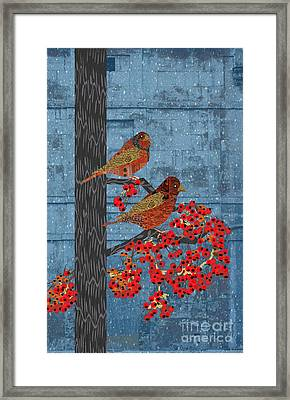 Framed Print featuring the digital art Sagebrush Sparrow Long by Kim Prowse