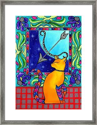 Sagittarius Cat Zodiac Framed Print
