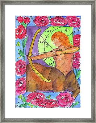 Framed Print featuring the painting Sagittarius by Cathie Richardson