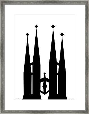 Sagrada Familia Framed Print by Asbjorn Lonvig
