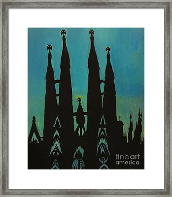 Sagrada Shadows Framed Print